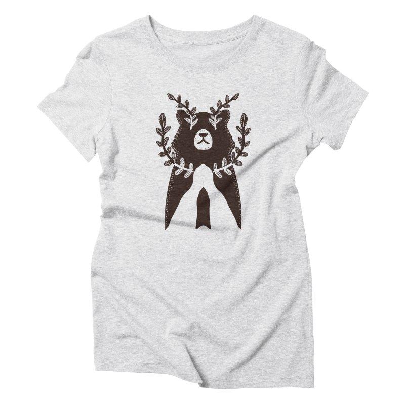 Dreaming Bear Women's T-Shirt by barmalisiRTB