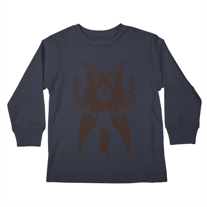 Dreaming Bear Kids Longsleeve T-Shirt by barmalisiRTB