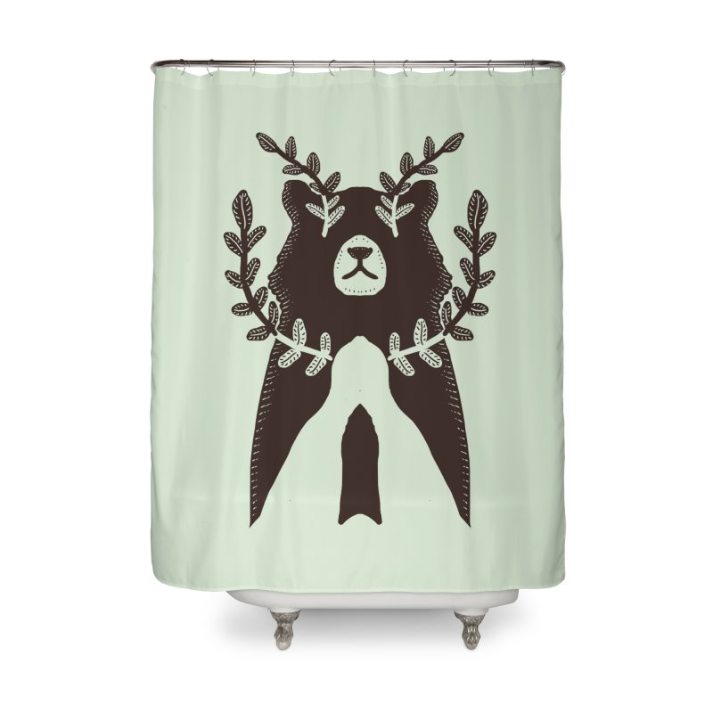 Dreaming Bear Home Shower Curtain by barmalisiRTB