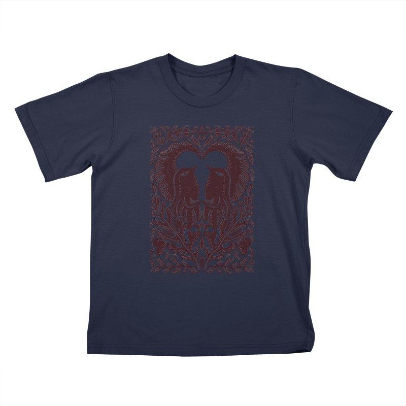 Bird Couple Kids T-Shirt by barmalisiRTB