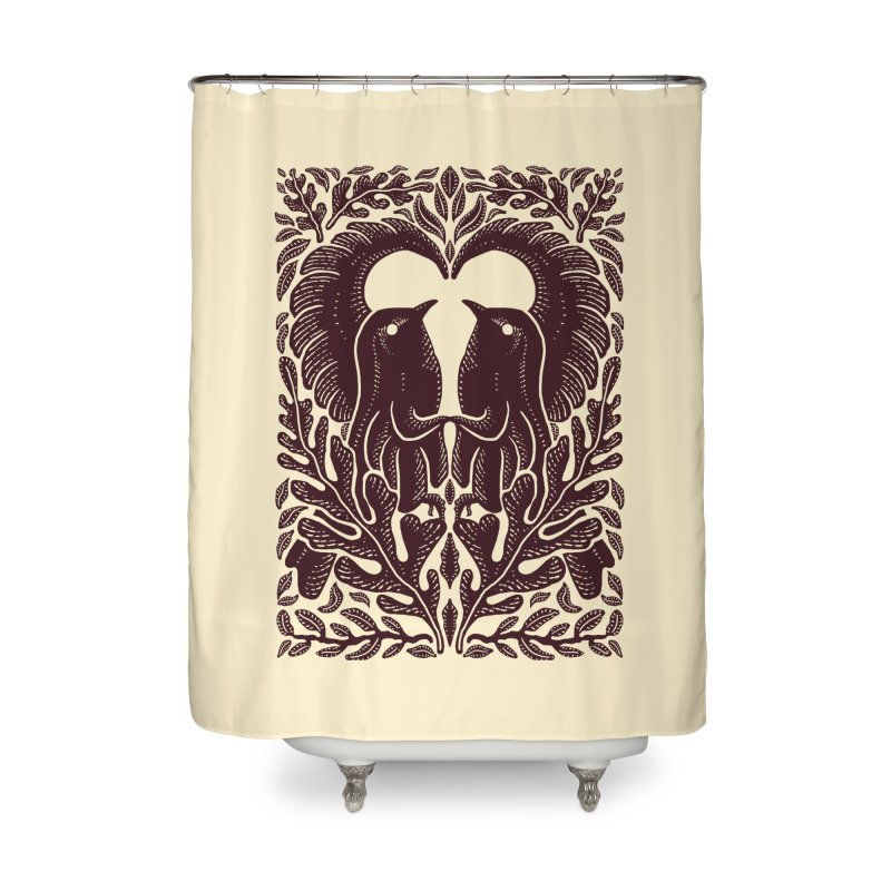 Bird Couple Home Shower Curtain by barmalisiRTB