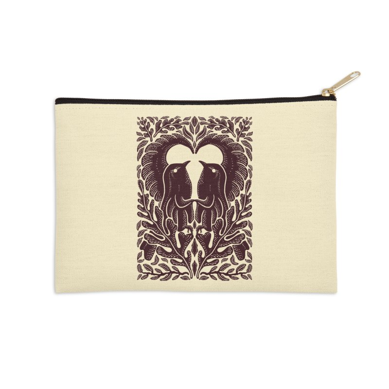 Bird Couple Accessories Zip Pouch by barmalisiRTB