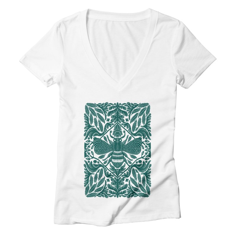 nature Bee Women's V-Neck by barmalisiRTB