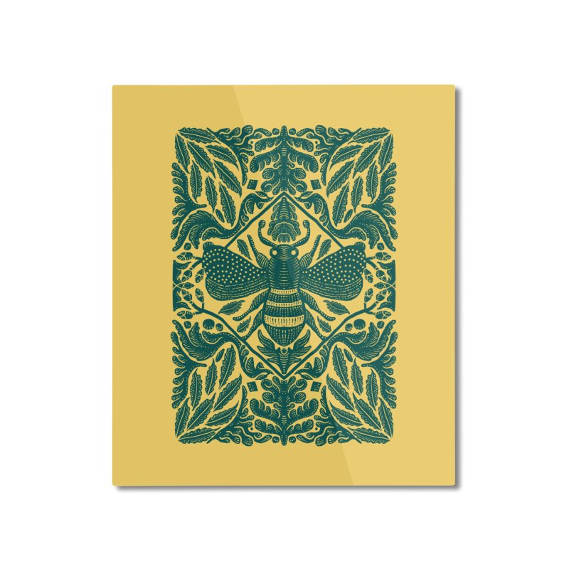 nature Bee Home Mounted Aluminum Print by barmalisiRTB