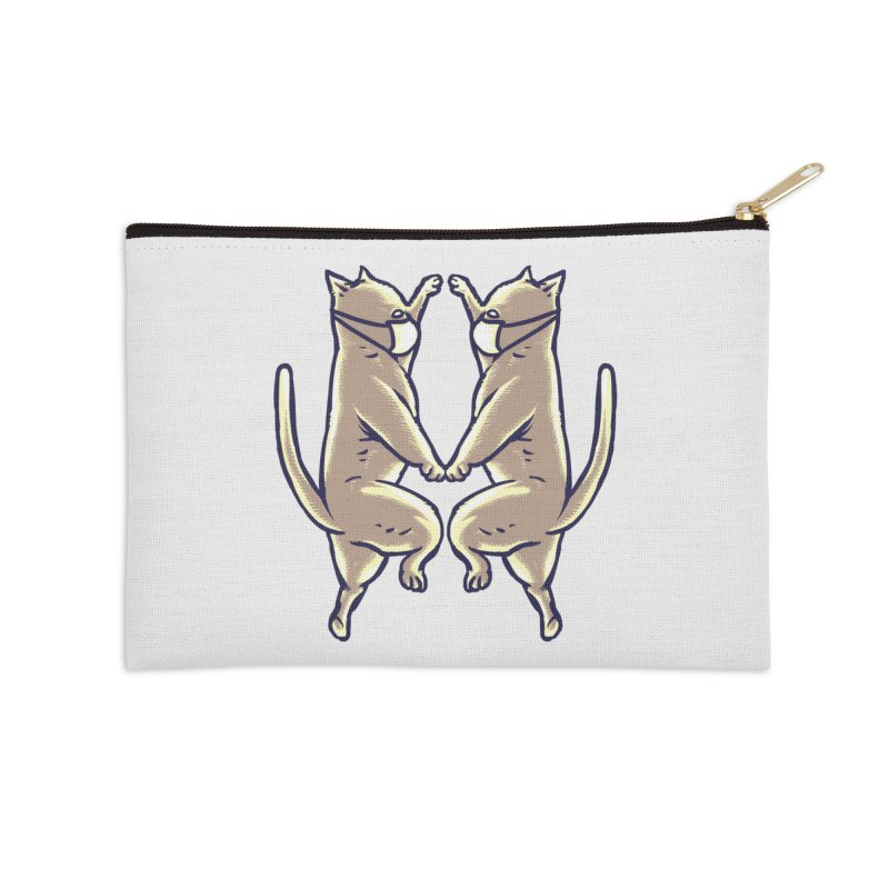 Dancing Cats Accessories Zip Pouch by barmalisiRTB