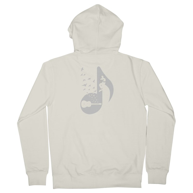 Musical  - Acoustic Guitar Women's Zip-Up Hoody by barmalisiRTB