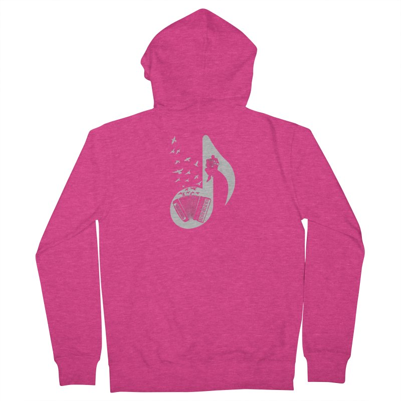 Musical - Accordion Women's Zip-Up Hoody by barmalisiRTB
