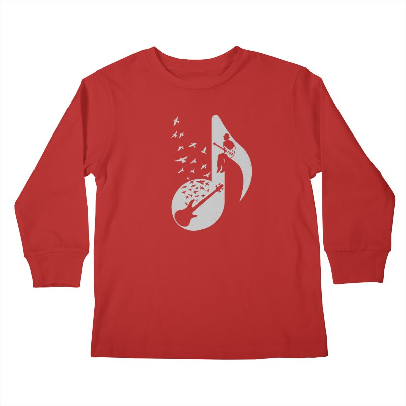 Musical - Bass Guitar Kids Longsleeve T-Shirt by barmalisiRTB