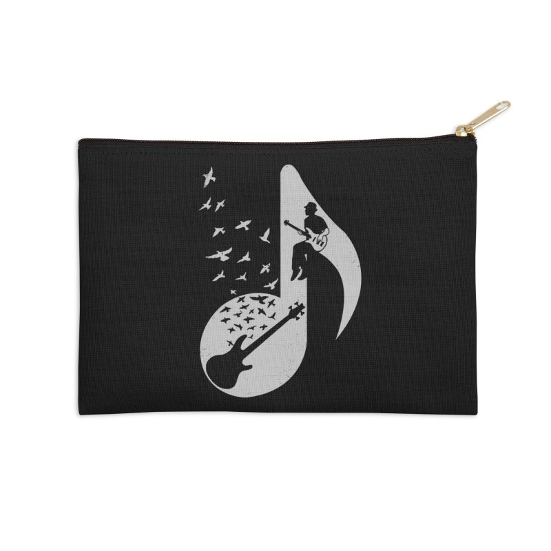 Musical - Bass Guitar Accessories Zip Pouch by barmalisiRTB
