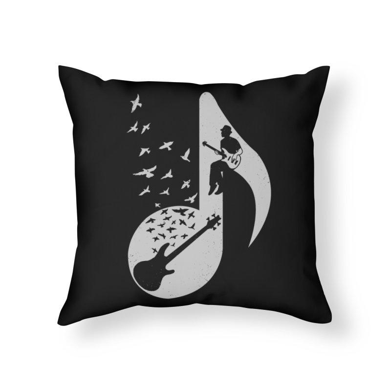 Musical - Bass Guitar Home Throw Pillow by barmalisiRTB