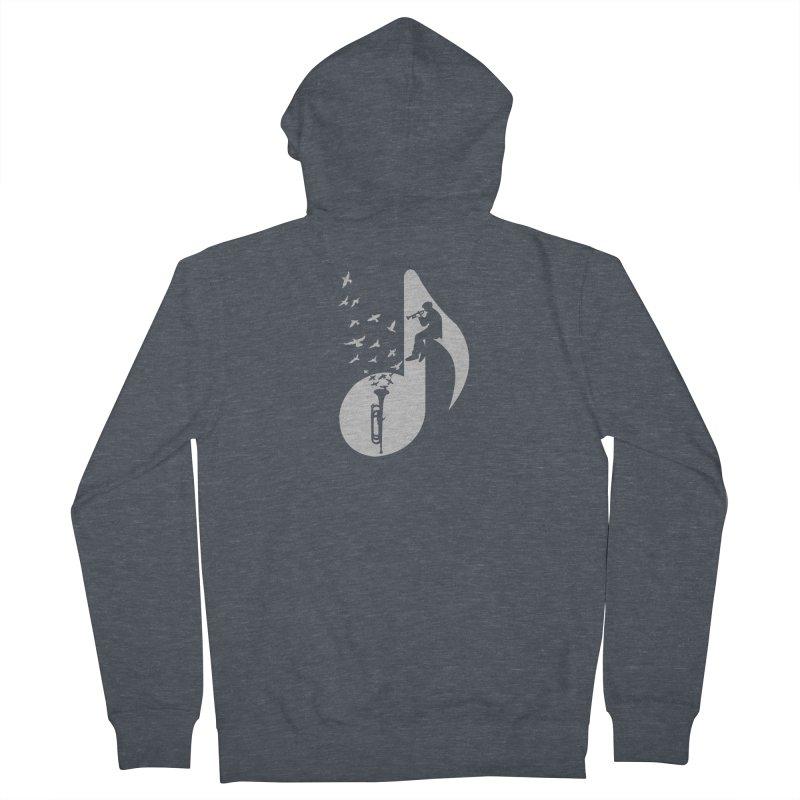 Musical - Bugle Men's Zip-Up Hoody by barmalisiRTB