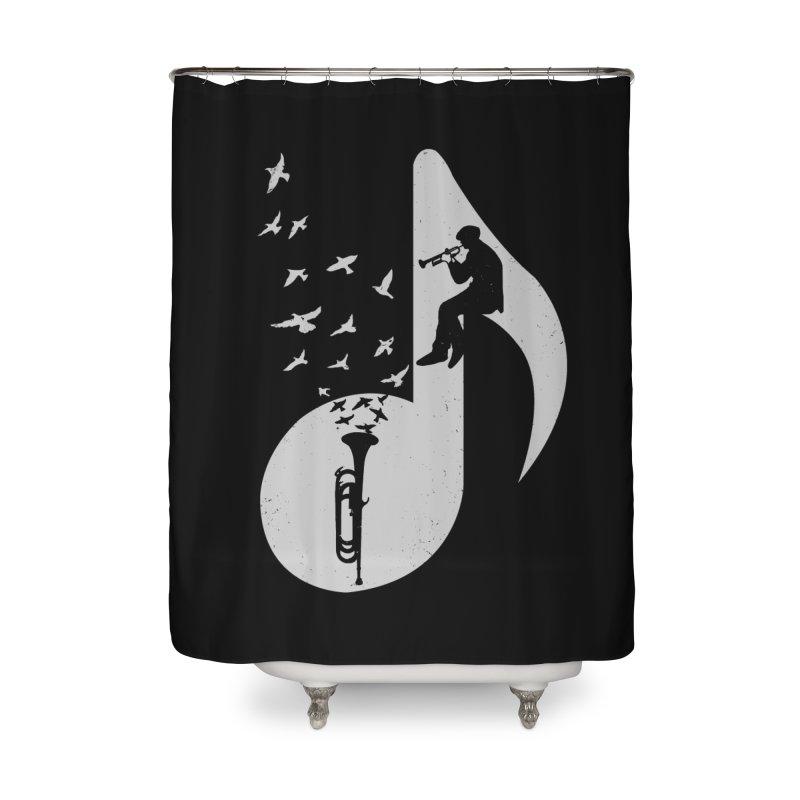 Musical - Bugle Home Shower Curtain by barmalisiRTB