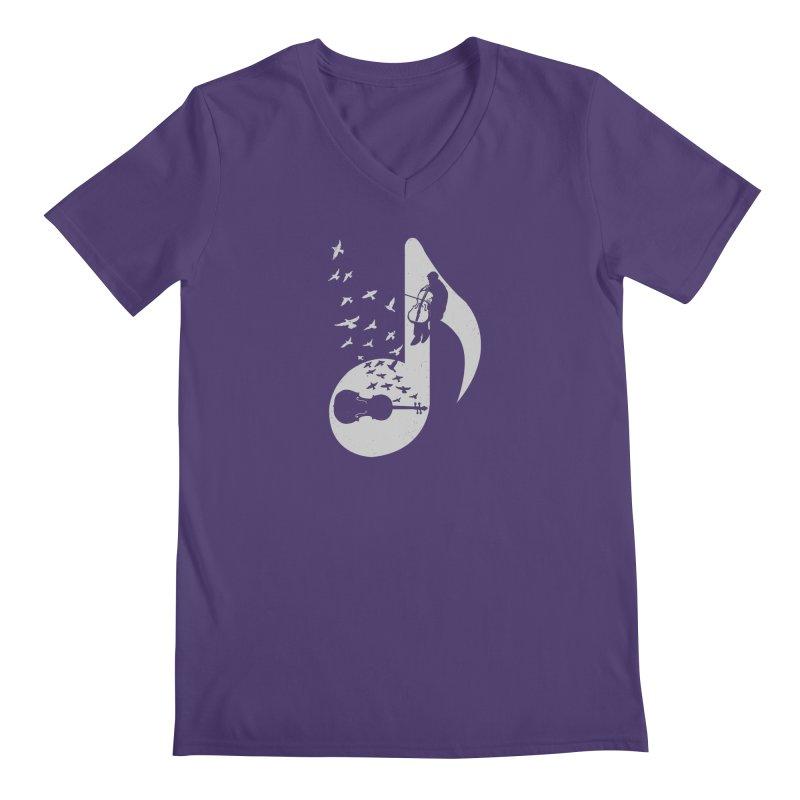 Musical - Cello Men's V-Neck by barmalisiRTB