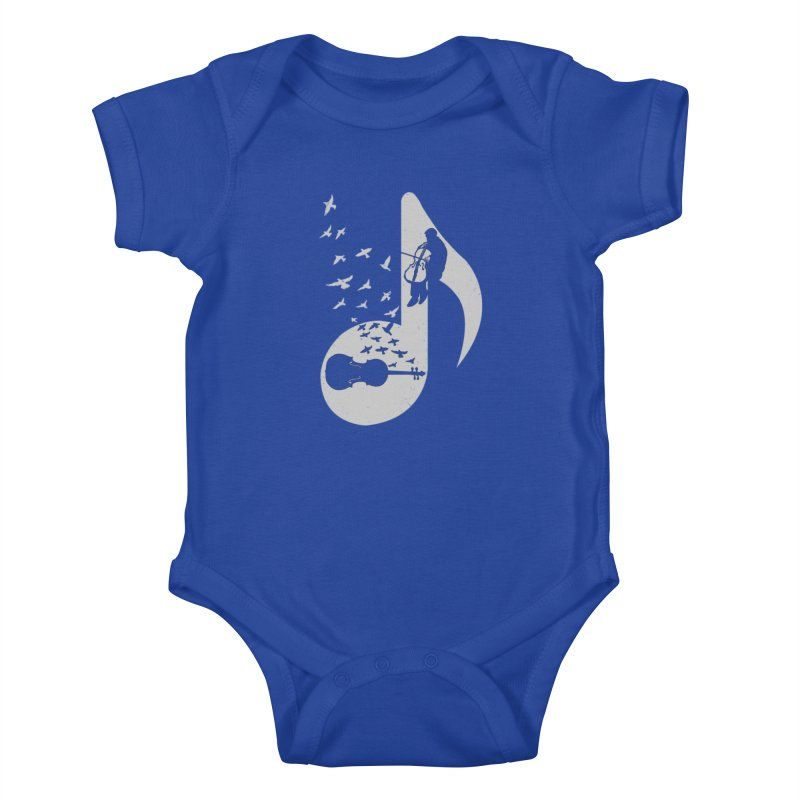 Musical - Cello Kids Baby Bodysuit by barmalisiRTB