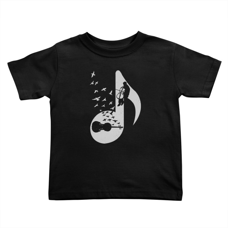 Musical - Cello Kids Toddler T-Shirt by barmalisiRTB