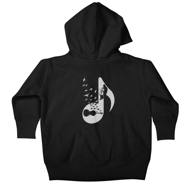 Musical - Cello Kids Baby Zip-Up Hoody by barmalisiRTB