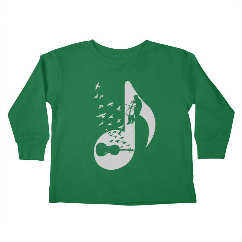 Musical - Cello Kids Toddler Longsleeve T-Shirt by barmalisiRTB
