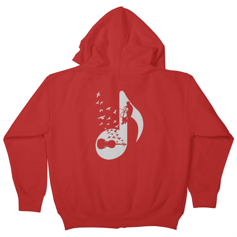 Musical - Cello Kids Zip-Up Hoody by barmalisiRTB