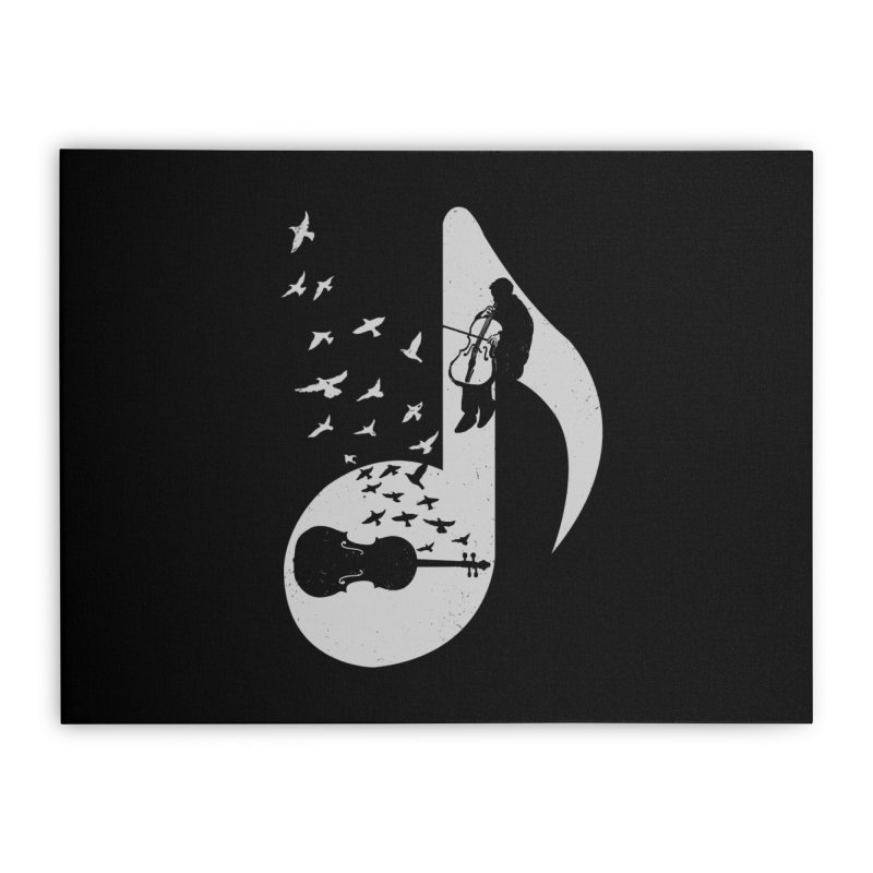 Musical - Cello Home Stretched Canvas by barmalisiRTB