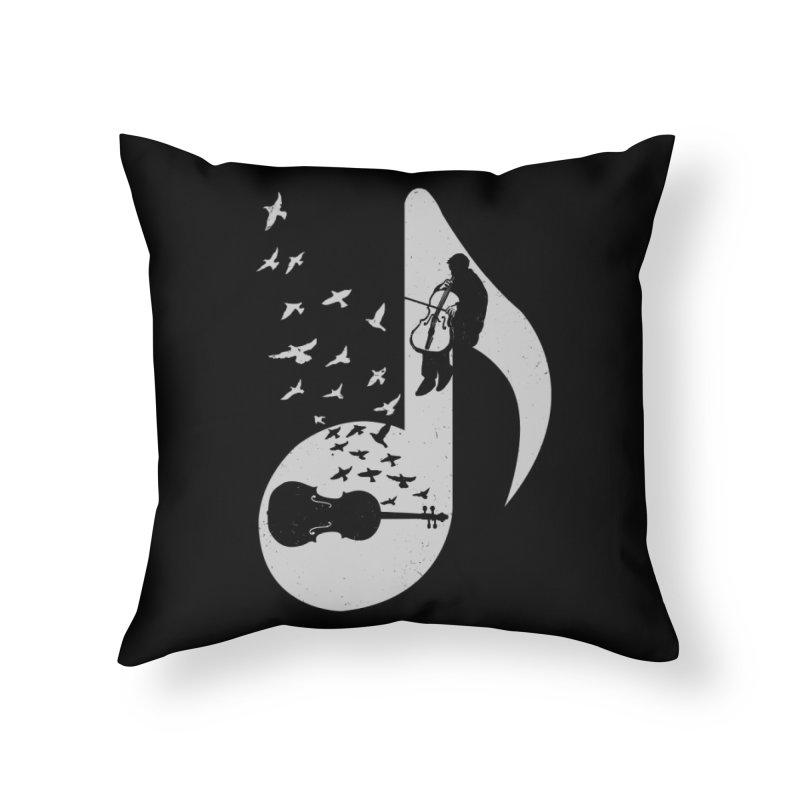 Musical - Cello Home Throw Pillow by barmalisiRTB