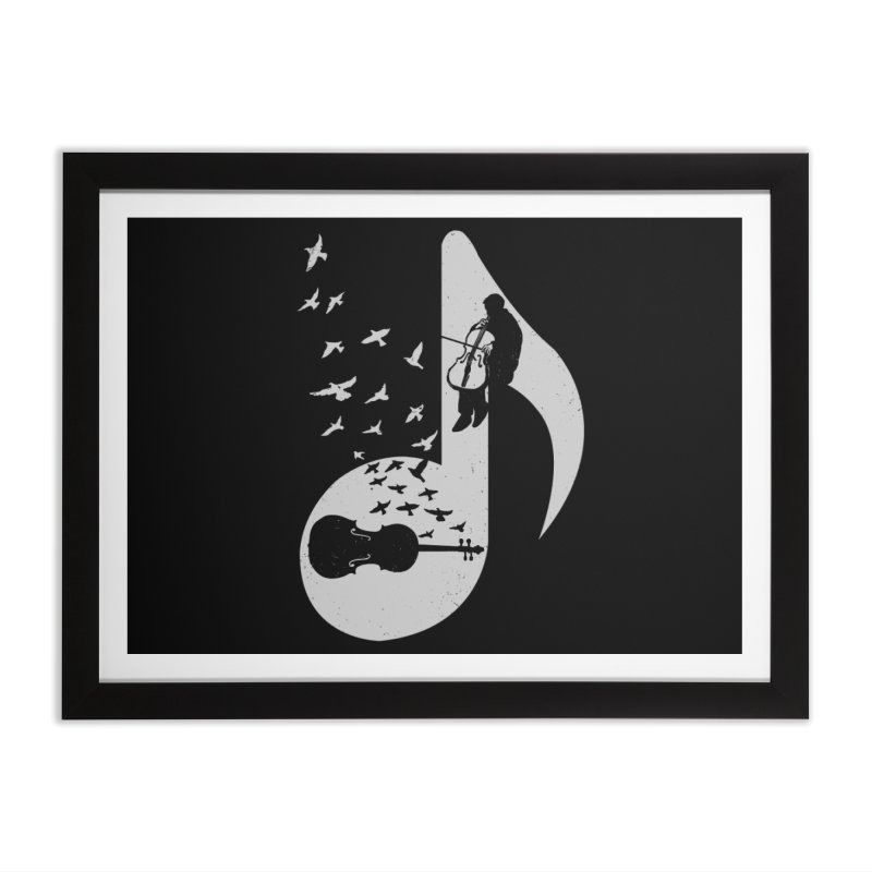 Musical - Cello Home Framed Fine Art Print by barmalisiRTB