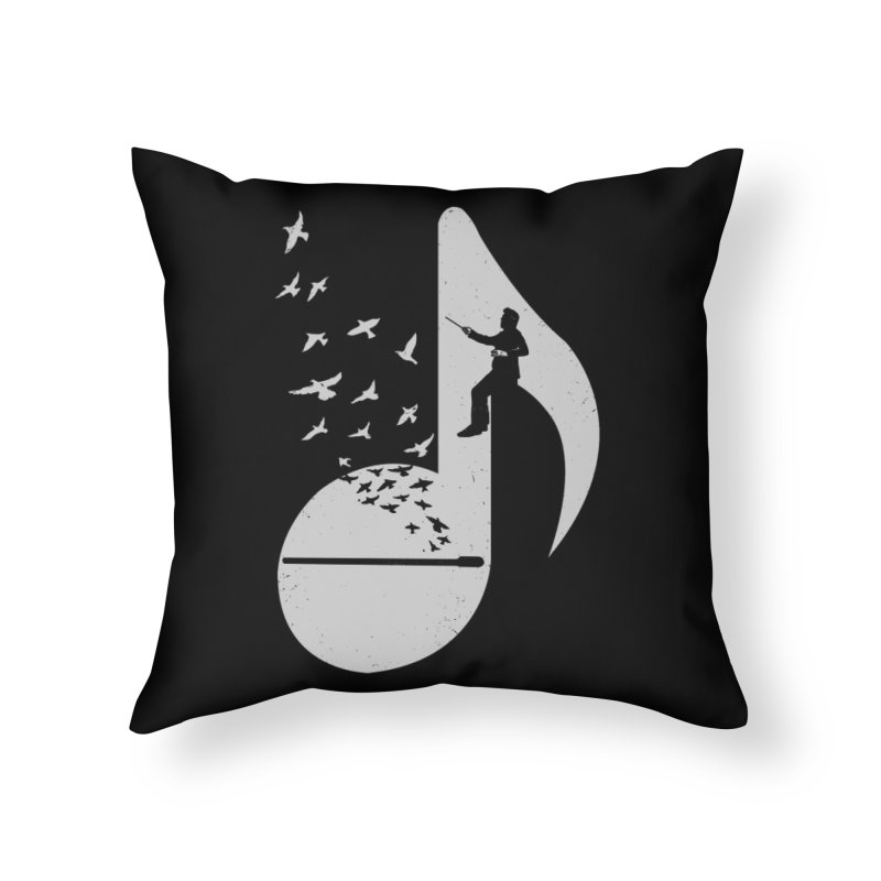 Musical - Conductor Home Throw Pillow by barmalisiRTB