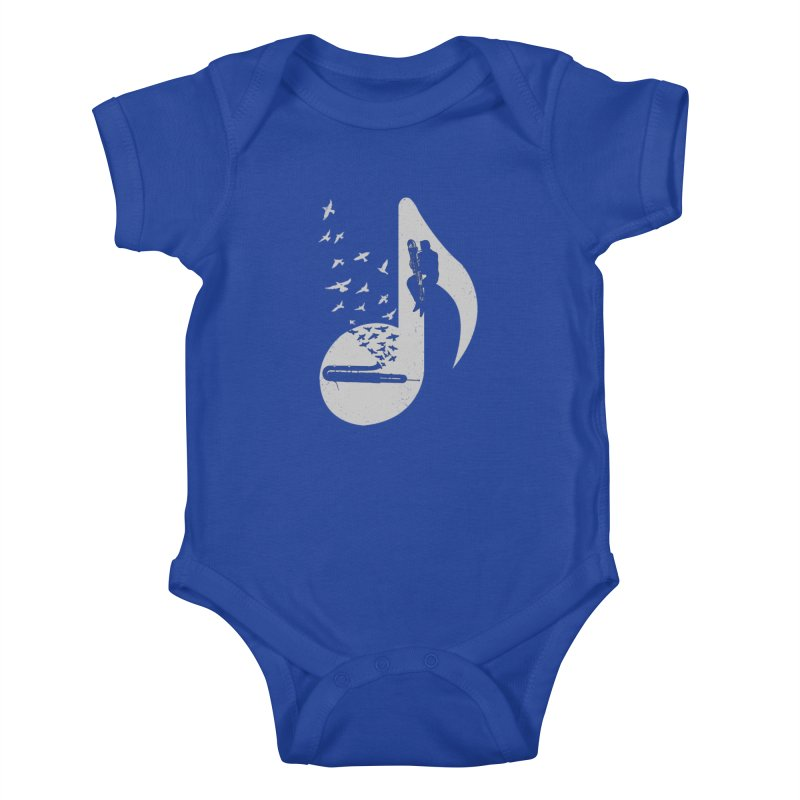 Musical - Contrabassoon Kids Baby Bodysuit by barmalisiRTB