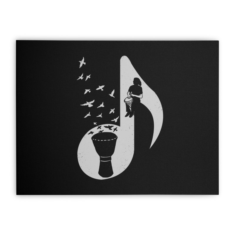 Musical - Djembe Home Stretched Canvas by barmalisiRTB