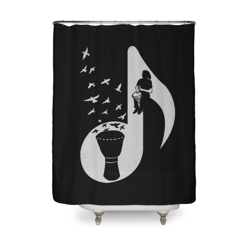 Musical - Djembe Home Shower Curtain by barmalisiRTB