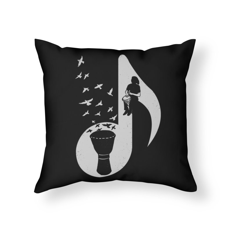 Musical - Djembe Home Throw Pillow by barmalisiRTB