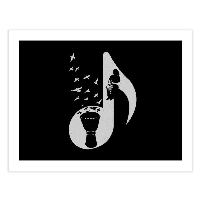 Musical - Djembe Home Fine Art Print by barmalisiRTB
