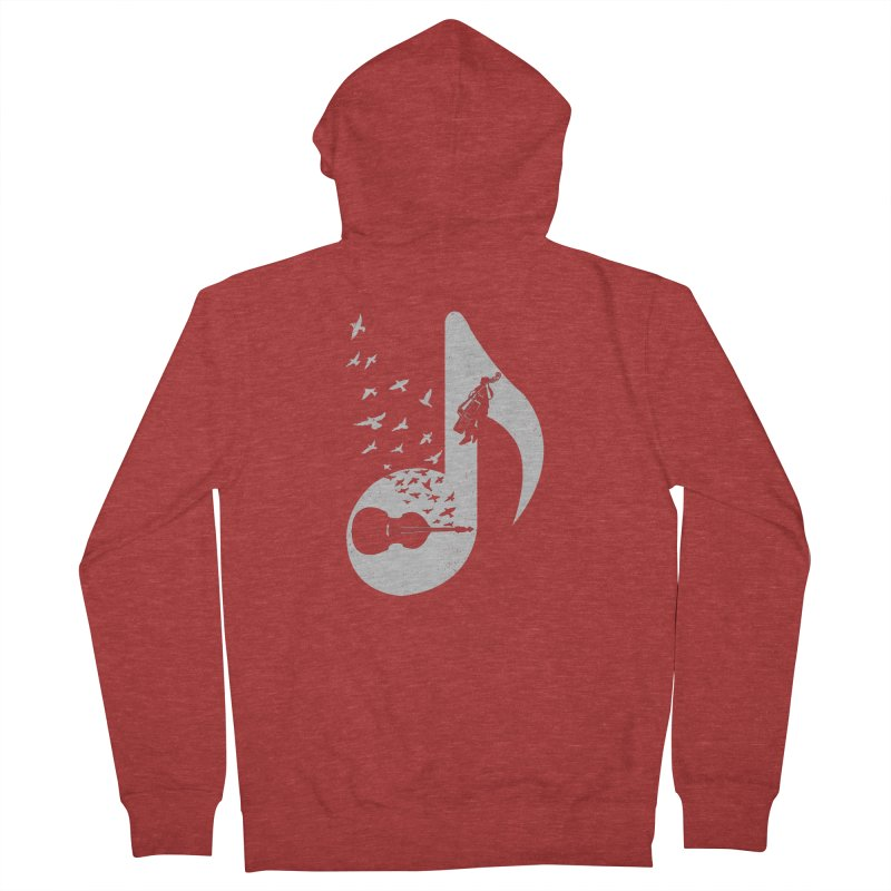 Musical - Double Bass Women's Zip-Up Hoody by barmalisiRTB