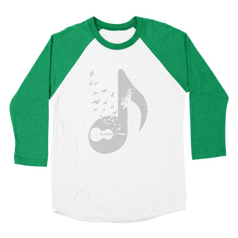 Musical - Double Bass Men's Baseball Triblend T-Shirt by barmalisiRTB