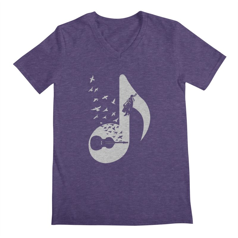 Musical - Double Bass Men's V-Neck by barmalisiRTB