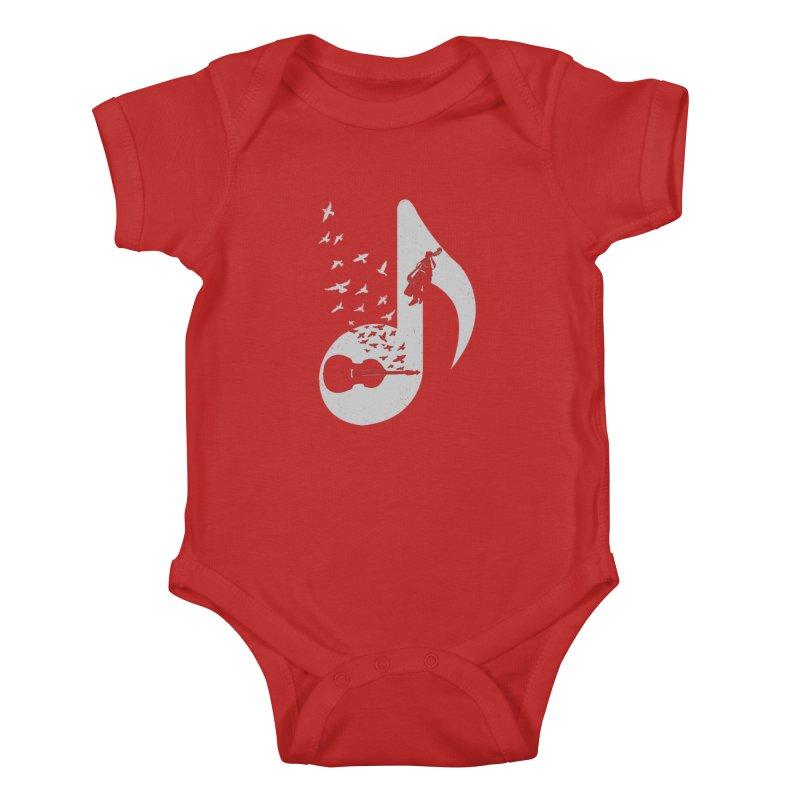 Musical - Double Bass Kids Baby Bodysuit by barmalisiRTB