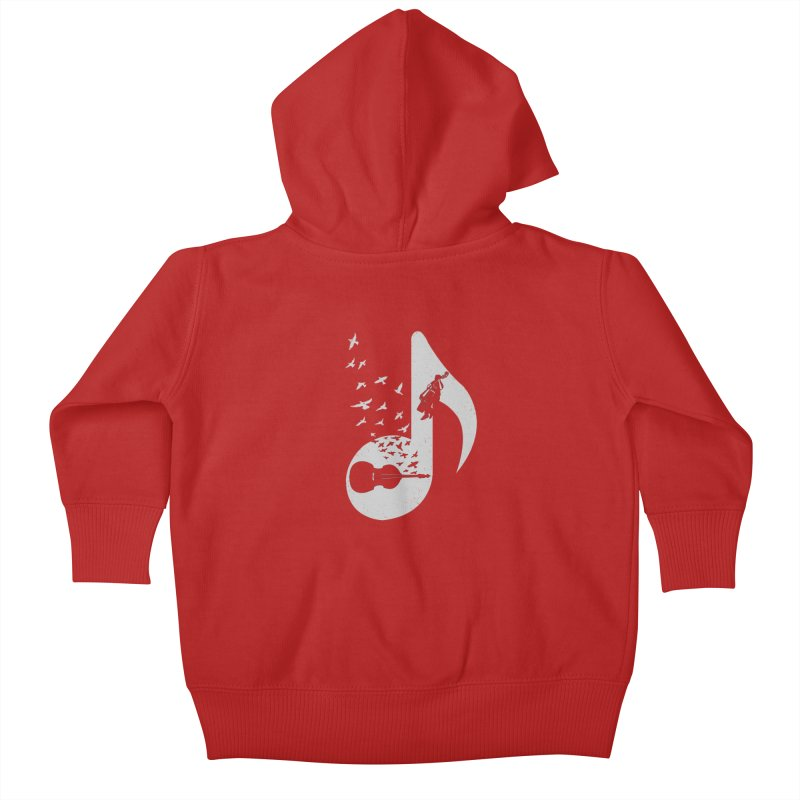 Musical - Double Bass Kids Baby Zip-Up Hoody by barmalisiRTB