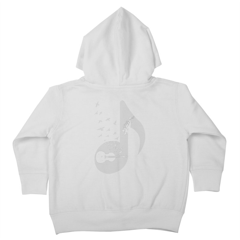 Musical - Double Bass Kids Toddler Zip-Up Hoody by barmalisiRTB