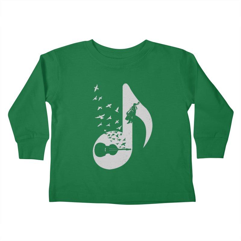 Musical - Double Bass Kids Toddler Longsleeve T-Shirt by barmalisiRTB