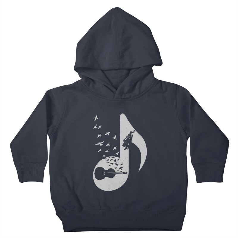 Musical - Double Bass Kids Toddler Pullover Hoody by barmalisiRTB