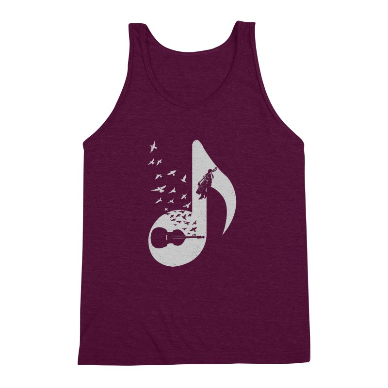 Musical - Double Bass Men's Triblend Tank by barmalisiRTB
