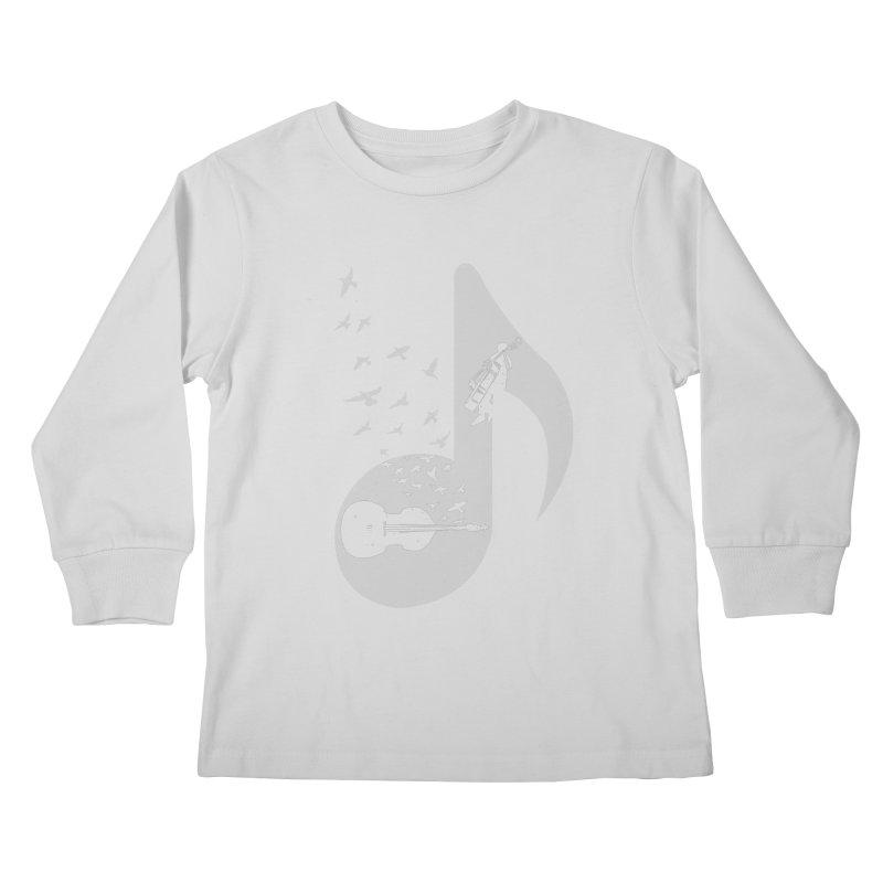 Musical - Double Bass Kids Longsleeve T-Shirt by barmalisiRTB