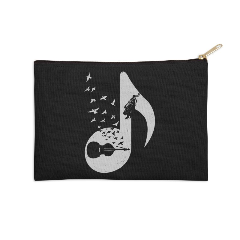 Musical - Double Bass Accessories Zip Pouch by barmalisiRTB