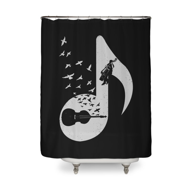 Musical - Double Bass Home Shower Curtain by barmalisiRTB