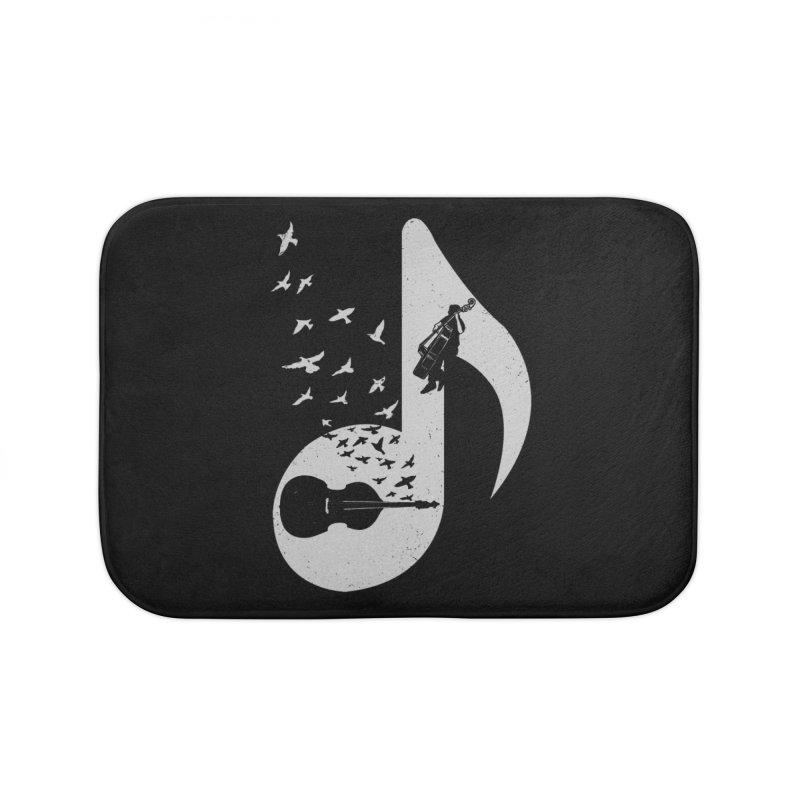 Musical - Double Bass Home Bath Mat by barmalisiRTB