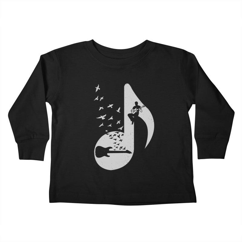 Musical - Electric Guitar Kids Toddler Longsleeve T-Shirt by barmalisiRTB