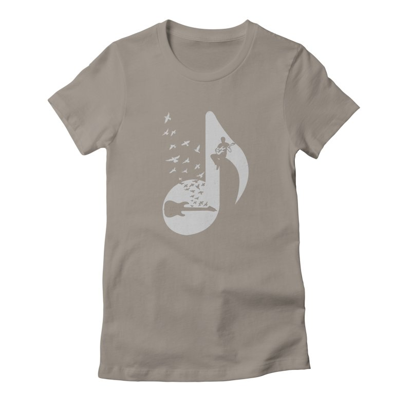 Musical - Electric Guitar Women's Fitted T-Shirt by barmalisiRTB