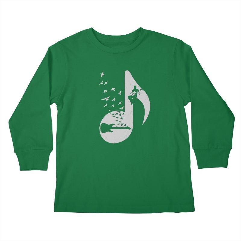 Musical - Electric Guitar Kids Longsleeve T-Shirt by barmalisiRTB