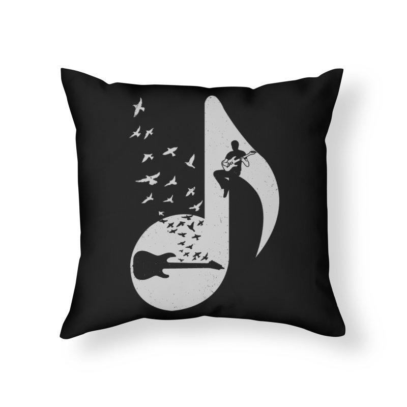 Musical - Electric Guitar Home Throw Pillow by barmalisiRTB