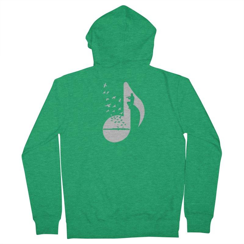 Musical - Flute Men's Zip-Up Hoody by barmalisiRTB