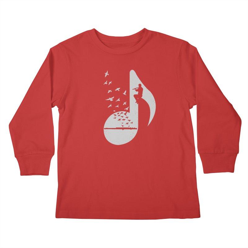 Musical - Flute Kids Longsleeve T-Shirt by barmalisiRTB